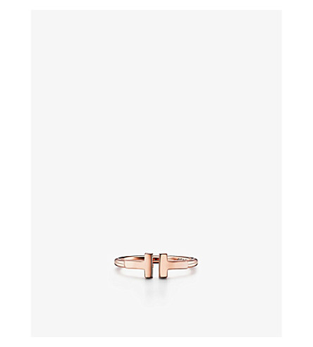 TIFFANY & CO Tiffany T wire ring in 18k rose gold