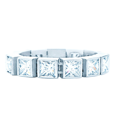 TIFFANY & CO Tiffany T diamond line ring in 18k white gold