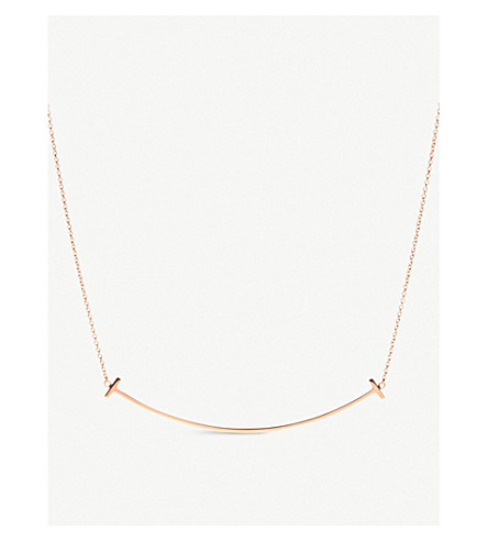 TIFFANY & CO Tiffany T smile pendant in 18k rose gold