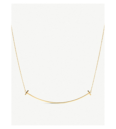 TIFFANY & CO Tiffany T smile pendant in 18k gold