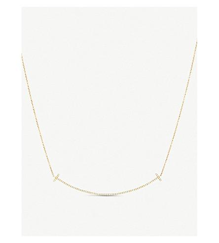 TIFFANY 和 CO TIFFANY18k 黄金与钻石的微笑吊坠