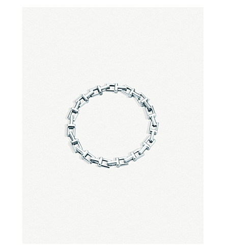 TIFFANY & CO Tiffany T chain bracelet in sterling silver, medium