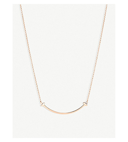 TIFFANY & CO Tiffany T smile pendant in 18k rose-gold, mini