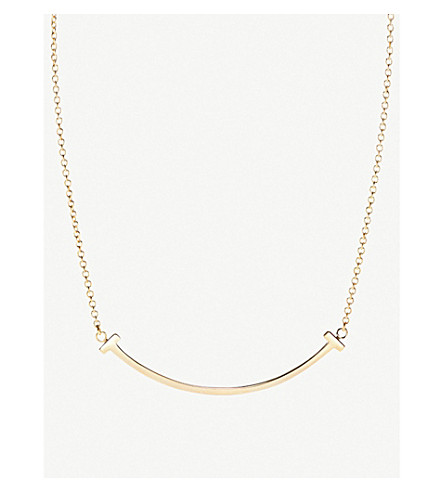 TIFFANY & CO Tiffany T smile pendant in 18k gold, mini