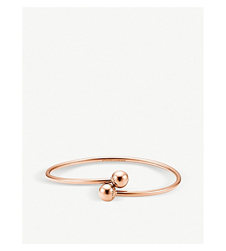 TIFFANY & CO Tiffany City HardWear 18k rose-gold ball bypass bracelet (Rose+gold