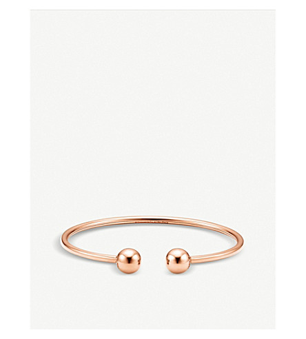 TIFFANY & CO Tiffany City HardWear 18k rose-gold ball wire bracelet (Rose+gold