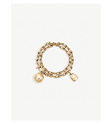 TIFFANY & CO Tiffany City HardWear Wrap Bracelet 18k Gold (Gold