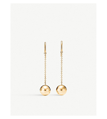 TIFFANY & CO Tiffany City HardWear Ball Hook 18k gold earrings (Gold