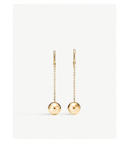 TIFFANY & CO Tiffany City HardWear Ball Hook 18k gold earrings (Gold