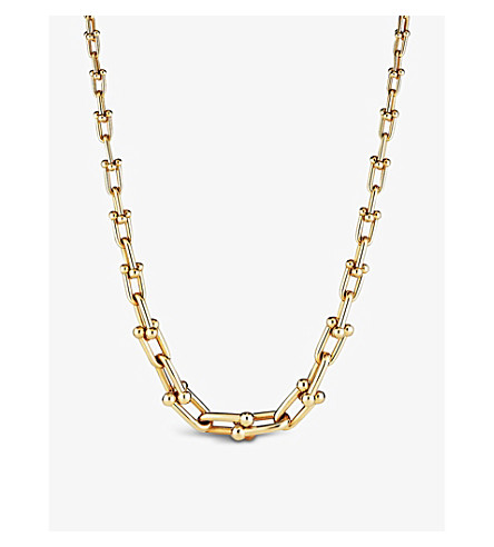 TIFFANY & CO Tiffany City HardWear 18k graduated link necklace (Gold