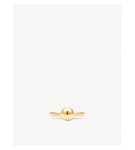 TIFFANY & CO Tiffany City HardWear 18k gold ball ring (Gold