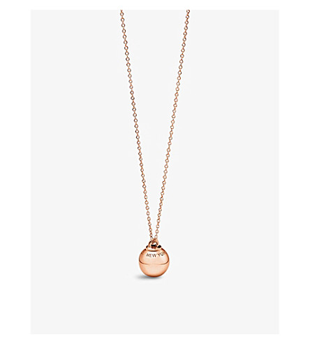 TIFFANY & CO Tiffany City HardWear 18k rose-gold ball pendant (Rose+gold