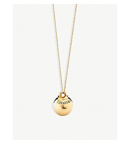 TIFFANY & CO Tiffany City HardWear 18k gold ball pendant (Gold