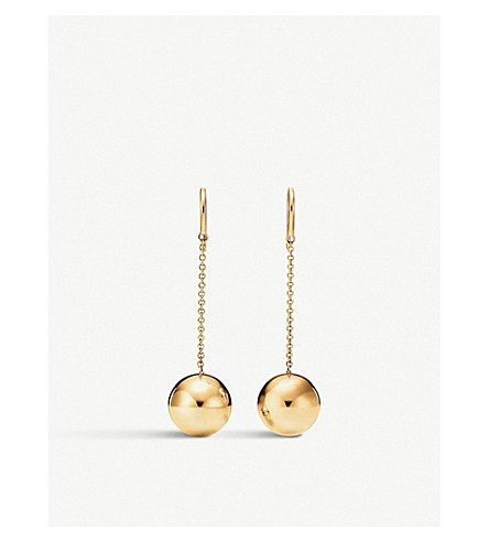 TIFFANY & CO Tiffany City HardWear 18k gold ball hook earrings (Gold