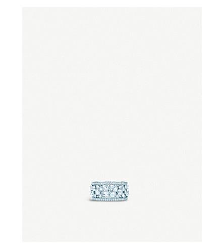 TIFFANY & CO Cobblestone platinum diamond ring