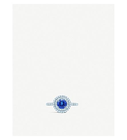 TIFFANY & CO Soleste platinum, diamond and sapphire ring