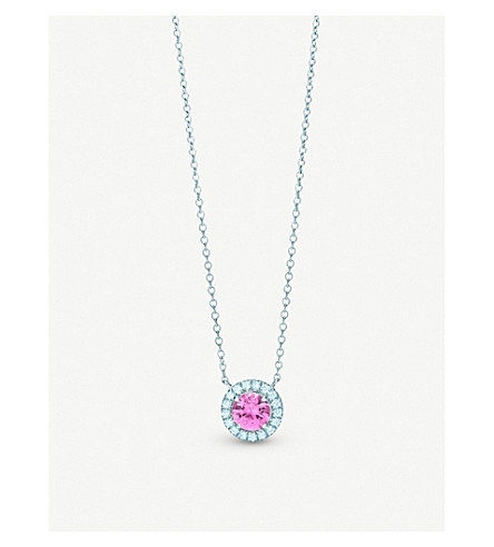 TIFFANY & CO Soleste platinum, diamond and sapphire necklace