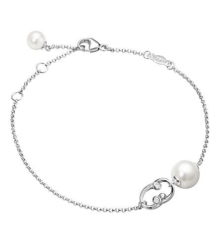 GEORG JENSEN Magic 18ct white-gold, pearl and diamond bracelet
