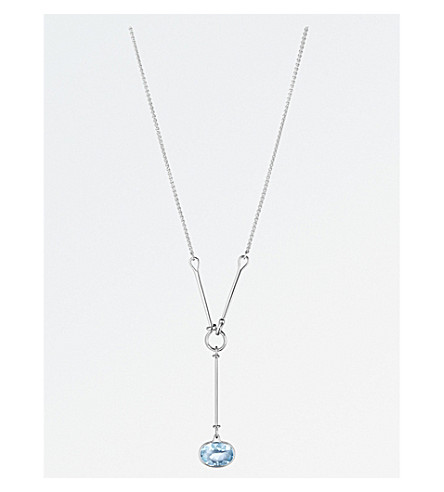 GEORG JENSEN Savannah sterling silver and blue topaz necklace
