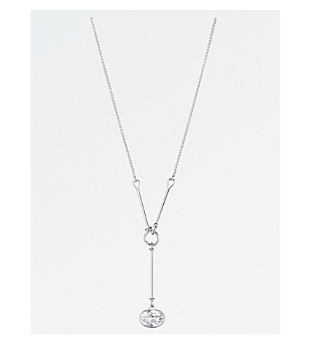GEORG JENSEN Savannah sterling silver and rock crystal necklace