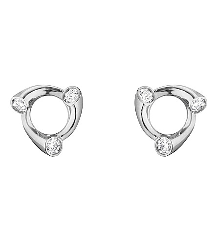GEORG JENSEN Magic 18ct white-gold and diamond earrings