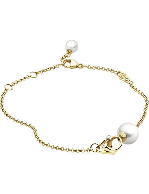 GEORG JENSEN Magic 18ct gold pearl and diamond bracelet