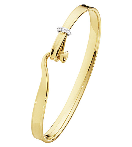 GEORG JENSEN Torun 18ct yellow-gold and diamond bangle