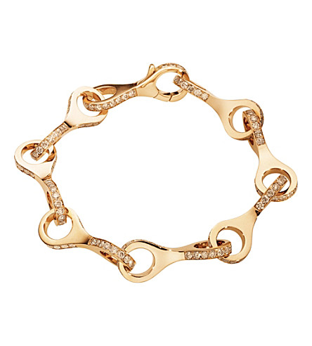 GEORG JENSEN Dune 18ct rose-gold and cinnamon diamond bracelet