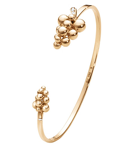GEORG JENSEN Moonlight Grapes 18ct rose-gold and diamond bangle