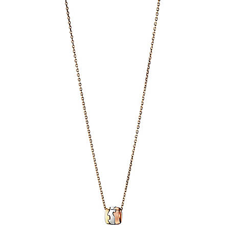 GEORG JENSEN Fusion 18-carat gold pendant necklace (Rose,+gold+white