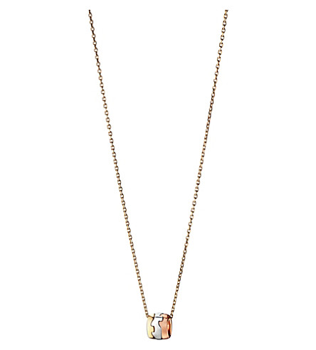 GEORG JENSEN Fusion 18ct gold pendant necklace (Rose,+gold+&+white