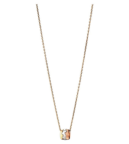 GEORG JENSEN Fusion 18ct yellow, white and rose gold pendant