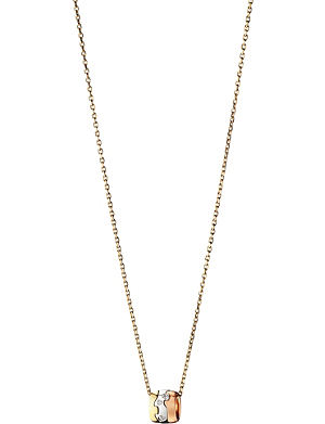 GEORG JENSEN Fusion 18ct white, yellow and rose gold diamond pendant necklace