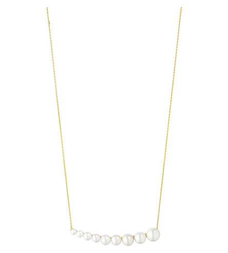 GEORG JENSEN Neva 18ct yellow-gold and pearl pendant necklace