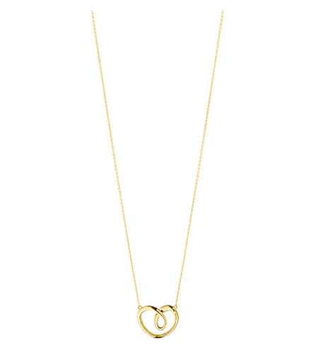 GEORG JENSEN 18-carat gold large heart pendant