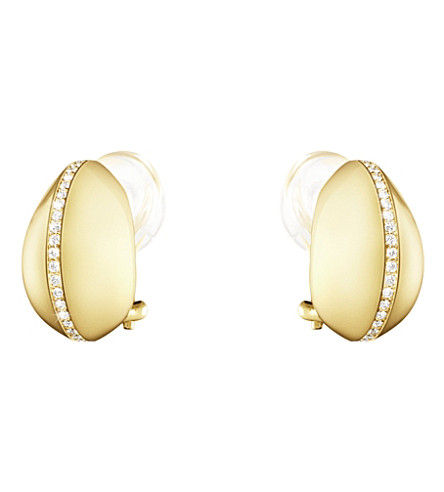 GEORG JENSEN Dune 18ct yellow-gold and diamond earrings