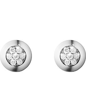 GEORG JENSEN Aurora 18ct white gold and diamond stud earrings