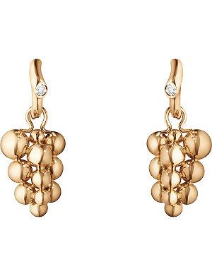 GEORG JENSEN Moonlight Grapes 18ct rose-gold and diamond earrings