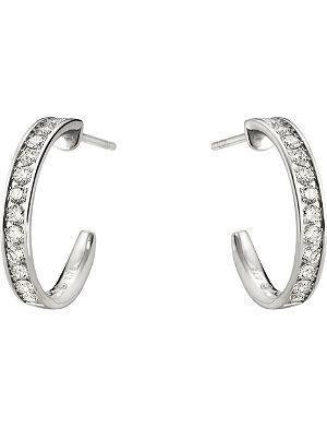 GEORG JENSEN Classique 18-kt white gold diamond earrings