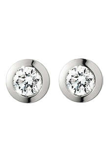 GEORG JENSEN Solitare white gold diamond earrings