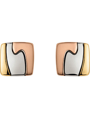 GEORG JENSEN 18ct yellow, white and red-gold Fusion earrings