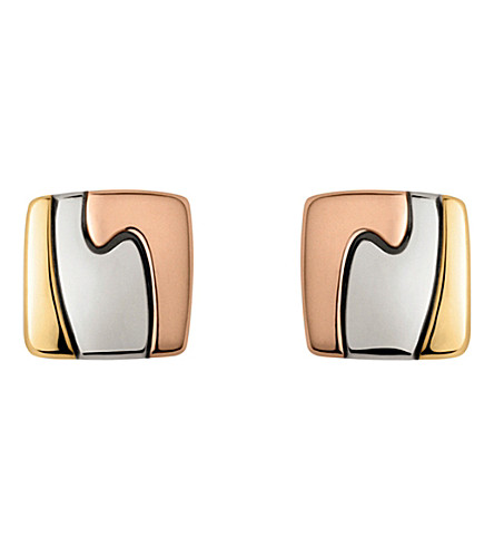 GEORG JENSEN 18ct yellow, white and red-gold Fusion earrings (White+and+red+gold