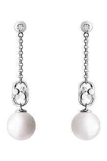 GEORG JENSEN Magic white gold earrings