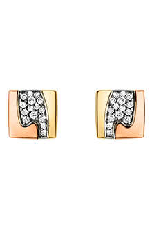 GEORG JENSEN Fusion pavé-set stud earrings