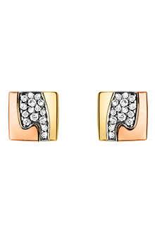 GEORG JENSEN Fusion pavé-set stud earrings