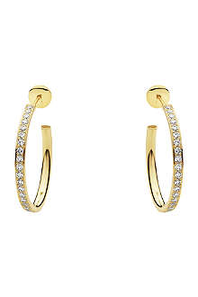 GEORG JENSEN Yellow gold earrings with brilliant cut diamonds