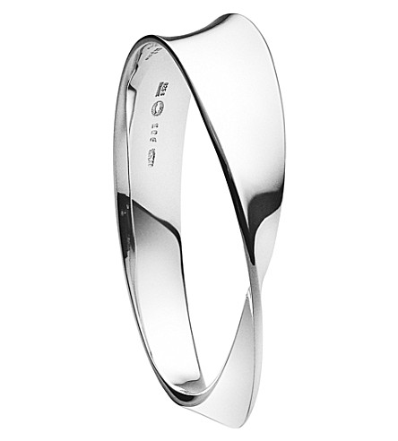 GEORG JENSEN Mobius sterling silver bangle