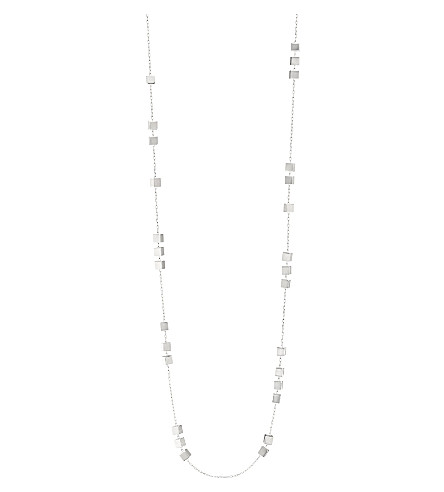 GEORG JENSEN Aria sterling silver sautoir necklace