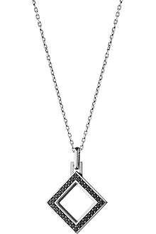 GEORG JENSEN Nocturne sterling silver black diamond pendant necklace