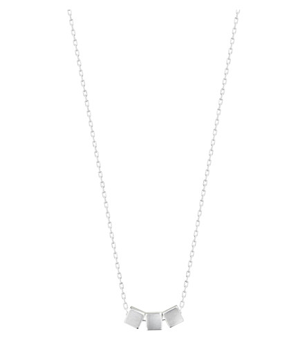 GEORG JENSEN Aria Cube sterling silver pendant necklace